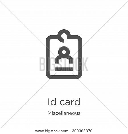 Id Card Icon Isolated On White Background From Miscellaneous Collection. Id Card Icon Trendy And Mod