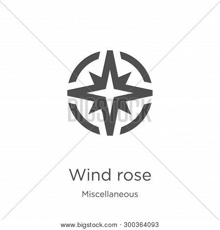 Wind Rose Icon Isolated On White Background From Miscellaneous Collection. Wind Rose Icon Trendy And