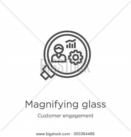 Magnifying Glass Icon Isolated On White Background From Customer Engagement Collection. Magnifying G