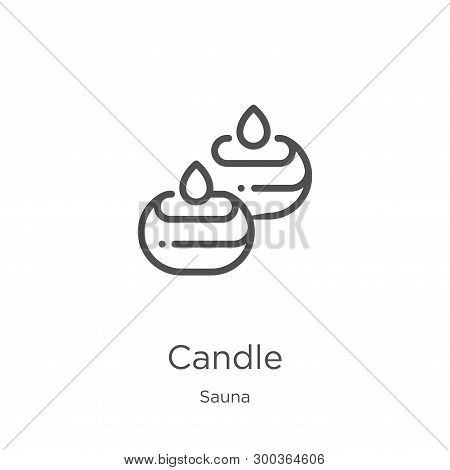 Candle Icon Isolated On White Background From Sauna Collection. Candle Icon Trendy And Modern Candle