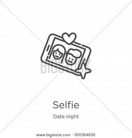 Selfie Icon Isolated On White Background From Date Night Collection. Selfie Icon Trendy And Modern S
