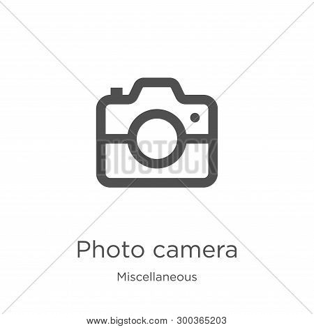 Photo Camera Icon Isolated On White Background From Miscellaneous Collection. Photo Camera Icon Tren