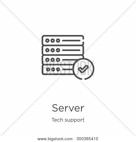 Server Icon Isolated On White Background From Tech Support Collection. Server Icon Trendy And Modern