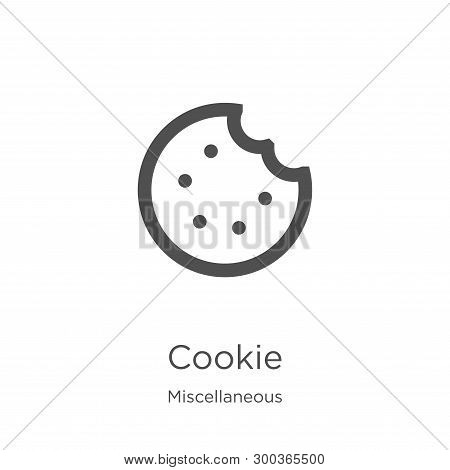 Cookie Icon Isolated On White Background From Miscellaneous Collection. Cookie Icon Trendy And Moder