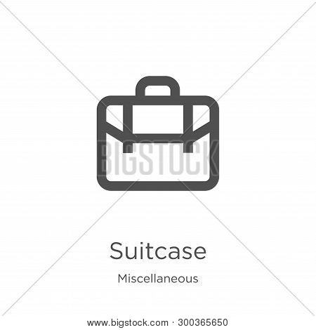 Suitcase Icon Isolated On White Background From Miscellaneous Collection. Suitcase Icon Trendy And M