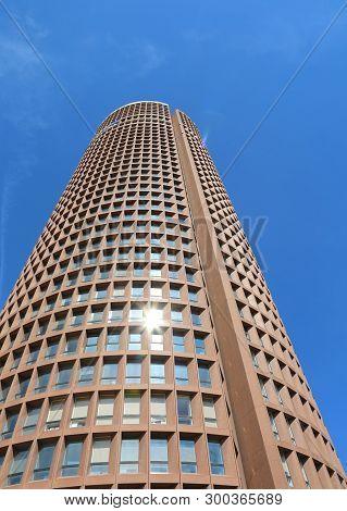 Lyon, France - August 16, 2018: Modern High Skyscraper Called Part-dieu Tower