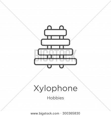 Xylophone Icon Isolated On White Background From Hobbies Collection. Xylophone Icon Trendy And Moder
