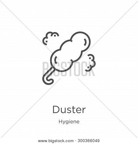 Duster Icon Isolated On White Background From Hygiene Collection. Duster Icon Trendy And Modern Dust