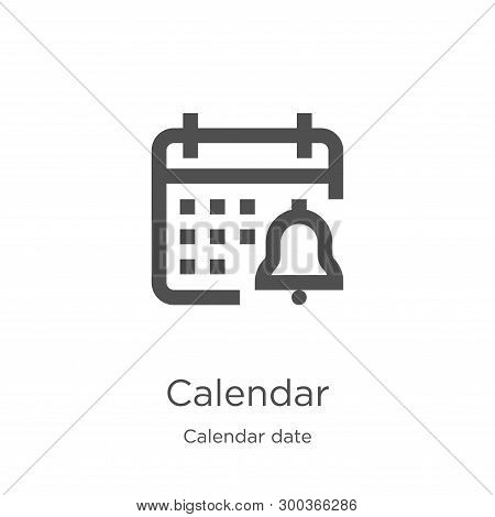 Calendar Icon Isolated On White Background From Calendar Date Collection. Calendar Icon Trendy And M