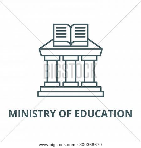 Ministry Of Education Vector Line Icon, Linear Concept, Outline Sign, Symbol