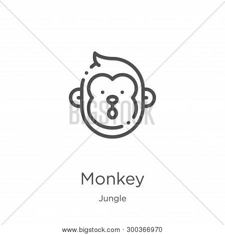 Monkey Icon Isolated On White Background From Jungle Collection. Monkey Icon Trendy And Modern Monke