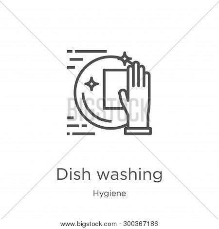 Dish Washing Icon Isolated On White Background From Hygiene Collection. Dish Washing Icon Trendy And