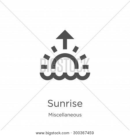 Sunrise Icon Isolated On White Background From Miscellaneous Collection. Sunrise Icon Trendy And Mod