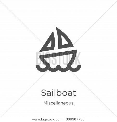Sailboat Icon Isolated On White Background From Miscellaneous Collection. Sailboat Icon Trendy And M
