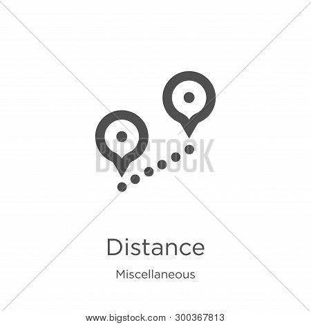Distance Icon Isolated On White Background From Miscellaneous Collection. Distance Icon Trendy And M