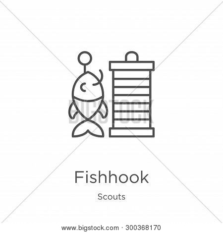 Fishhook Icon Isolated On White Background From Scouts Collection. Fishhook Icon Trendy And Modern F