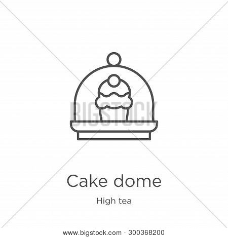 Cake Dome Icon Isolated On White Background From High Tea Collection. Cake Dome Icon Trendy And Mode