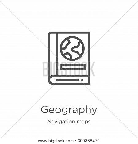 Geography Icon Isolated On White Background From Navigation Maps Collection. Geography Icon Trendy A