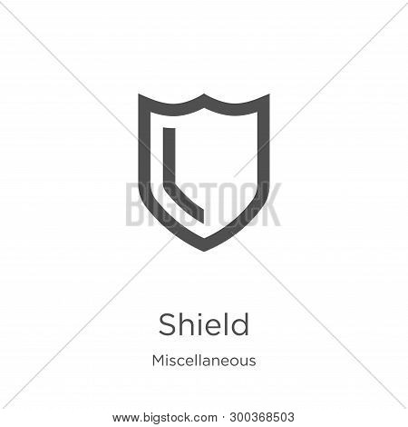 Shield Icon Isolated On White Background From Miscellaneous Collection. Shield Icon Trendy And Moder