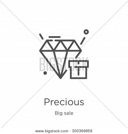 Precious Icon Isolated On White Background From Big Sale Collection. Precious Icon Trendy And Modern