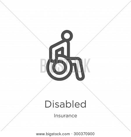 Disabled Icon Isolated On White Background From Insurance Collection. Disabled Icon Trendy And Moder