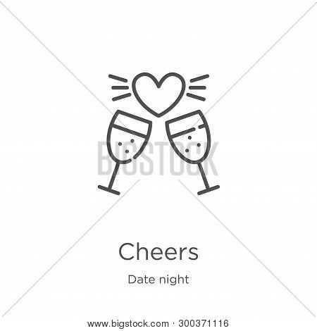 Cheers Icon Isolated On White Background From Date Night Collection. Cheers Icon Trendy And Modern C