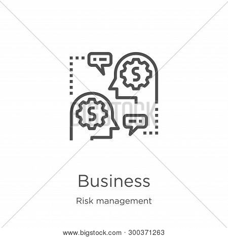 Business Icon Isolated On White Background From Risk Management Collection. Business Icon Trendy And