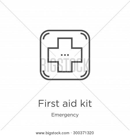 First Aid Kit Icon Isolated On White Background From Emergency Collection. First Aid Kit Icon Trendy