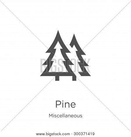 Pine Icon Isolated On White Background From Miscellaneous Collection. Pine Icon Trendy And Modern Pi