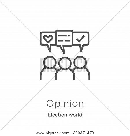 Opinion Icon Isolated On White Background From Election World Collection. Opinion Icon Trendy And Mo