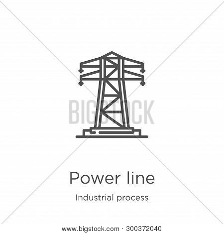 Power Line Icon Isolated On White Background From Industrial Process Collection. Power Line Icon Tre