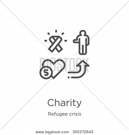 Charity Icon Isolated On White Background From Refugee Crisis Collection. Charity Icon Trendy And Mo