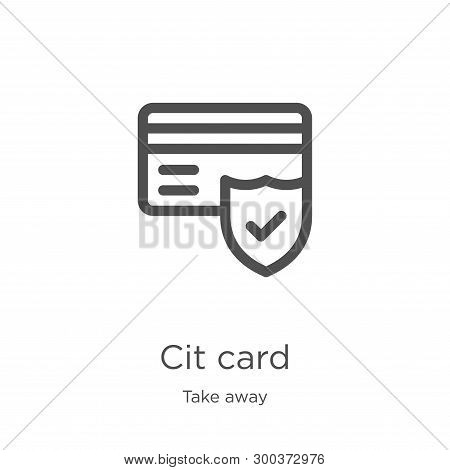 Credit Card Icon Isolated On White Background From Take Away Collection. Credit Card Icon Trendy And