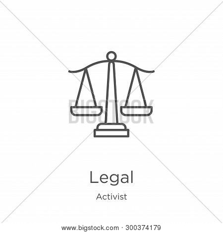 Legal Icon Isolated On White Background From Activist Collection. Legal Icon Trendy And Modern Legal