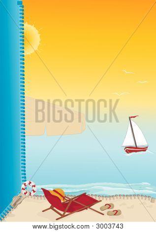Summer Beach Card.Eps