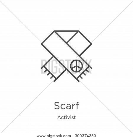 Scarf Icon Isolated On White Background From Activist Collection. Scarf Icon Trendy And Modern Scarf