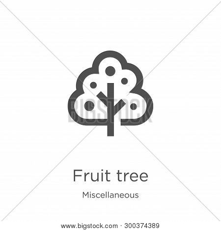 Fruit Tree Icon Isolated On White Background From Miscellaneous Collection. Fruit Tree Icon Trendy A