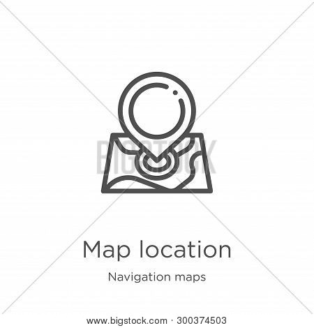 Map Location Icon Isolated On White Background From Navigation Maps Collection. Map Location Icon Tr