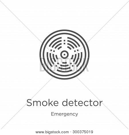 Smoke Detector Icon Isolated On White Background From Emergency Collection. Smoke Detector Icon Tren