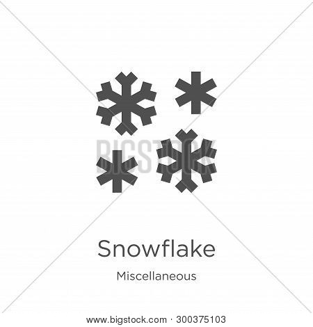 Snowflake Icon Isolated On White Background From Miscellaneous Collection. Snowflake Icon Trendy And