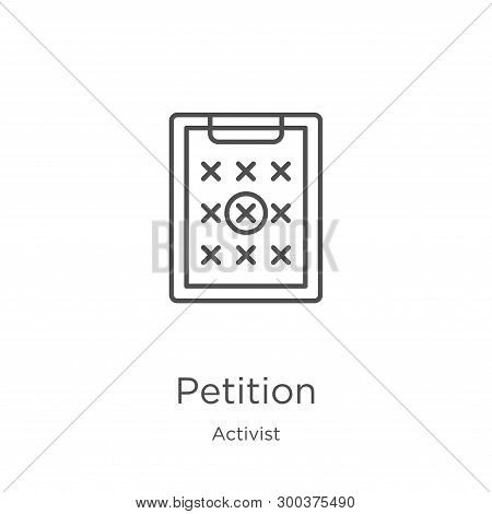 Petition Icon Isolated On White Background From Activist Collection. Petition Icon Trendy And Modern