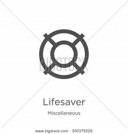 Lifesaver Icon Isolated On White Background From Miscellaneous Collection. Lifesaver Icon Trendy And