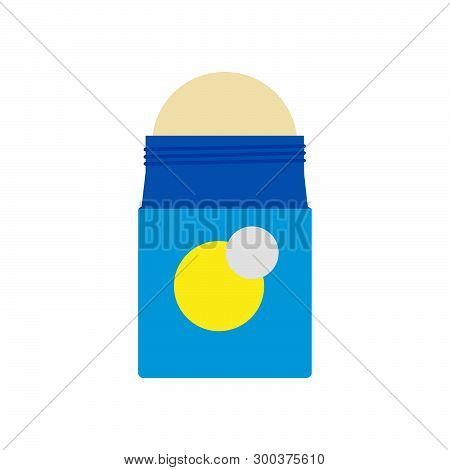 Deodorant Illustration Treatment Health Design Vector Icon. Smell And Sweat Roll Bottle. Product Cos
