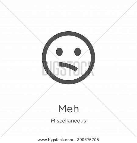 Meh Icon Isolated On White Background From Miscellaneous Collection. Meh Icon Trendy And Modern Meh