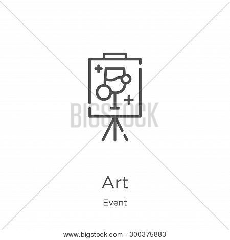 Art Icon Isolated On White Background From Event Collection. Art Icon Trendy And Modern Art Symbol F