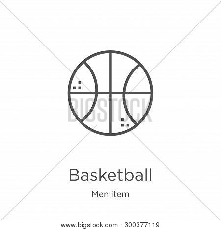 Basketball Icon Isolated On White Background From Men Item Collection. Basketball Icon Trendy And Mo