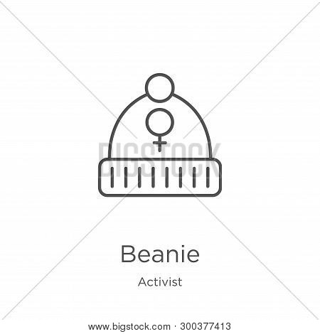 Beanie Icon Isolated On White Background From Activist Collection. Beanie Icon Trendy And Modern Bea