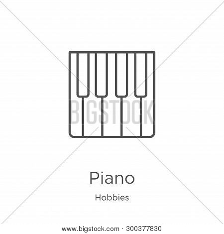 Piano Icon Isolated On White Background From Hobbies Collection. Piano Icon Trendy And Modern Piano