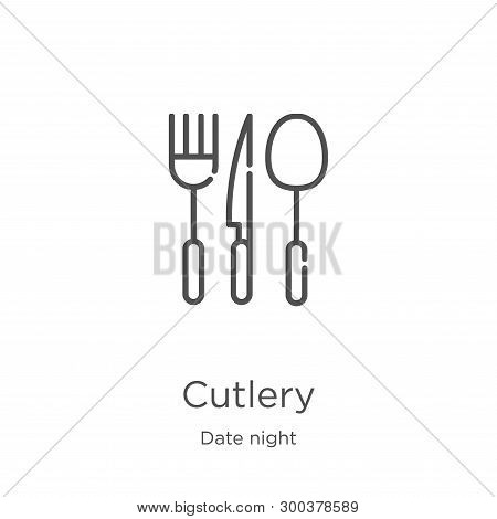 Cutlery Icon Isolated On White Background From Date Night Collection. Cutlery Icon Trendy And Modern