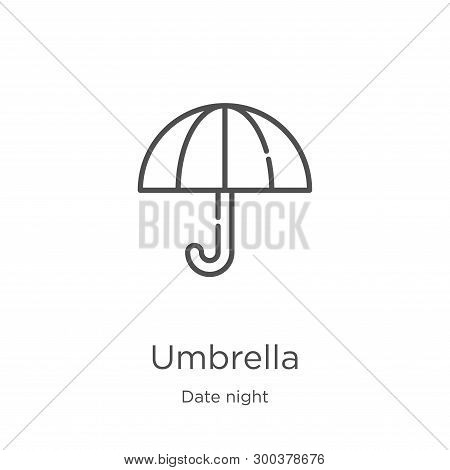 Umbrella Icon Isolated On White Background From Date Night Collection. Umbrella Icon Trendy And Mode